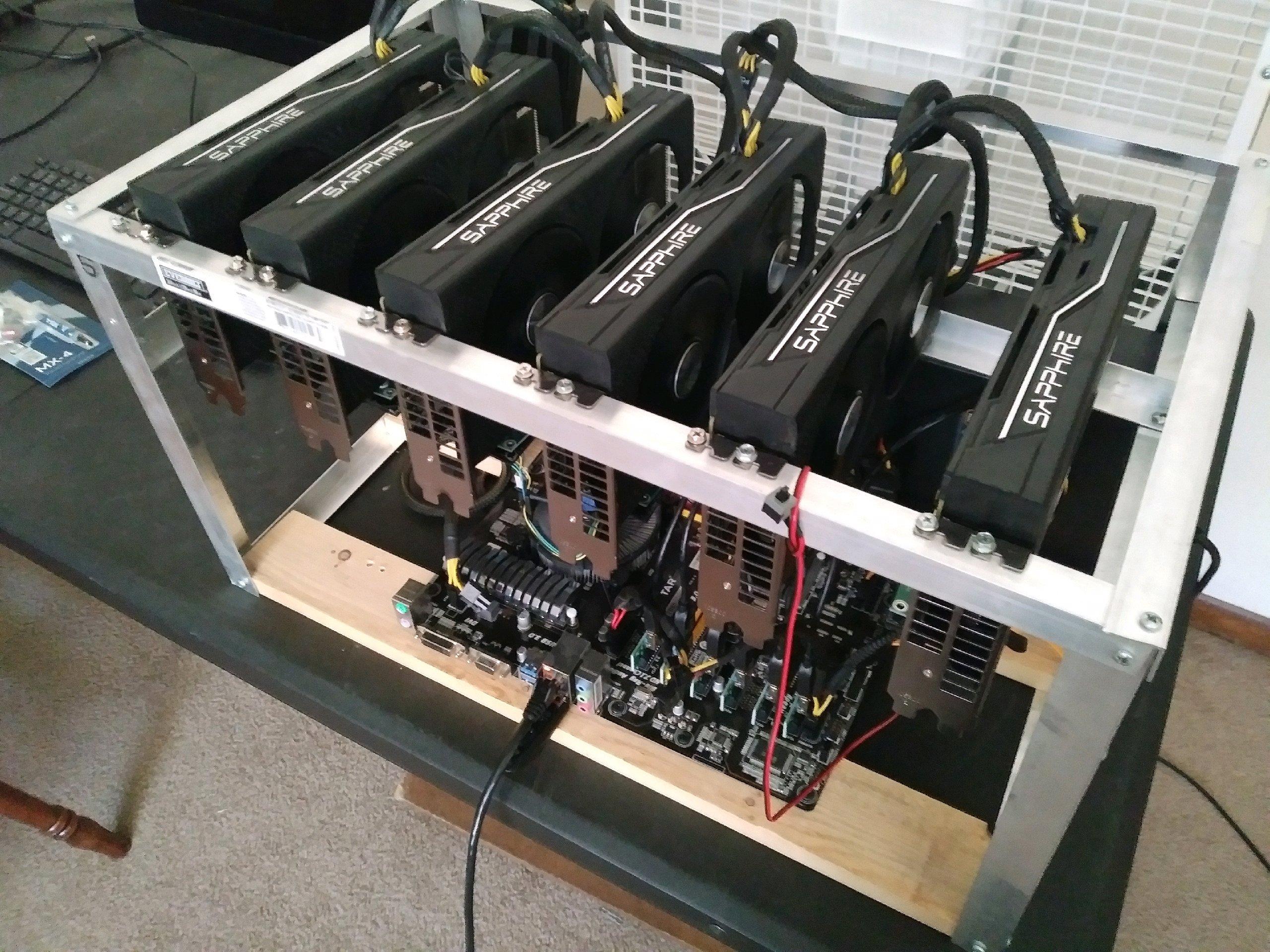 Building AMD Radeon RX 470 6x GPU Mining Rig, Prescott Valley, AZ